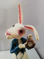 White Rabbit sculpture